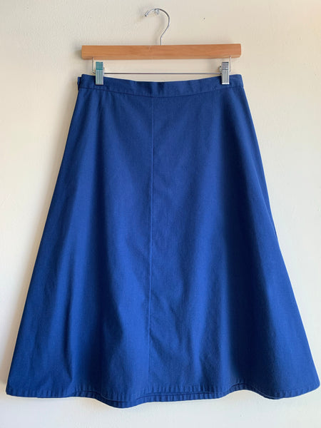 Handmade navy blue wrap skirt