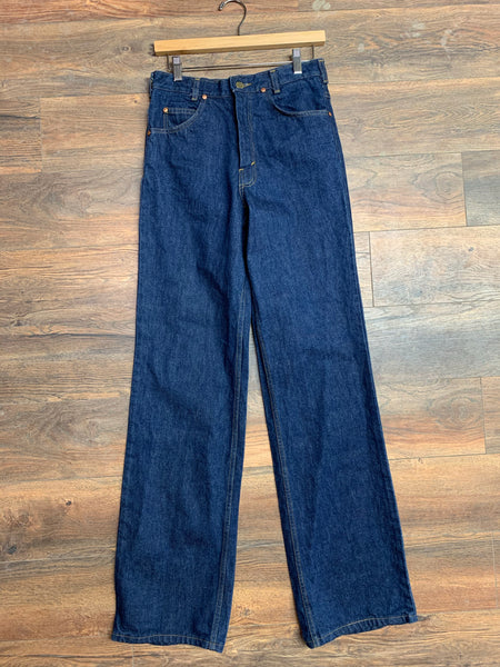 "BIG BLUE Wide Leg Thick Denim 29"" waist"