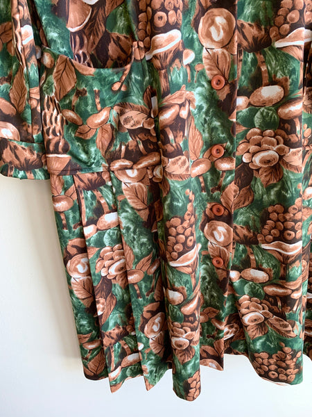 Plus Size 70's Mushroom Print Shirt-Dress!