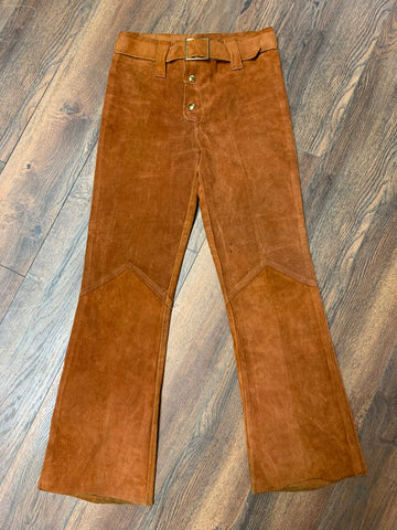 1970s Superb Suede Bell Bottoms
