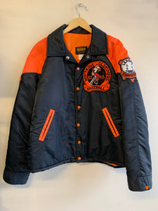 Whitkow Oldtimers Black & Orange Quilted Championship Jacket