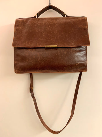 Perfectly Worn-In Leather Laptop Tote