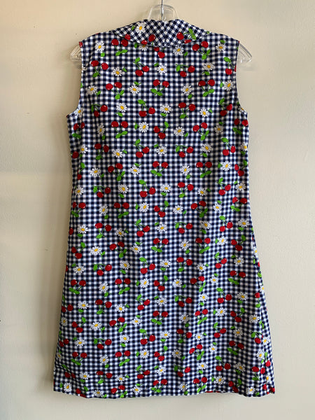 1960's house dress, blue edition