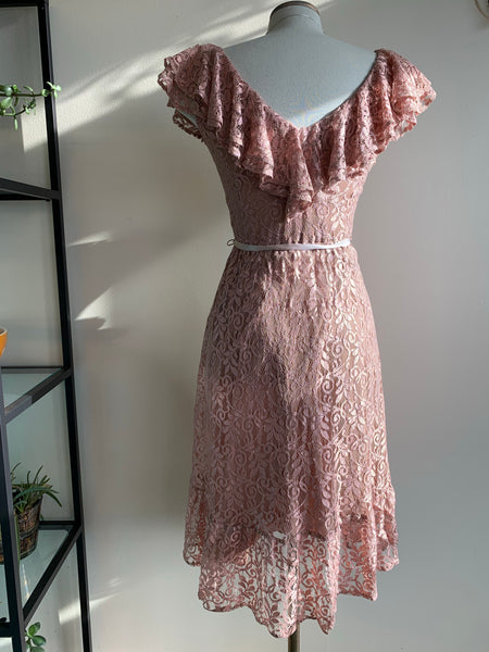 House of Nu-Mode Rose Lace Party Dress