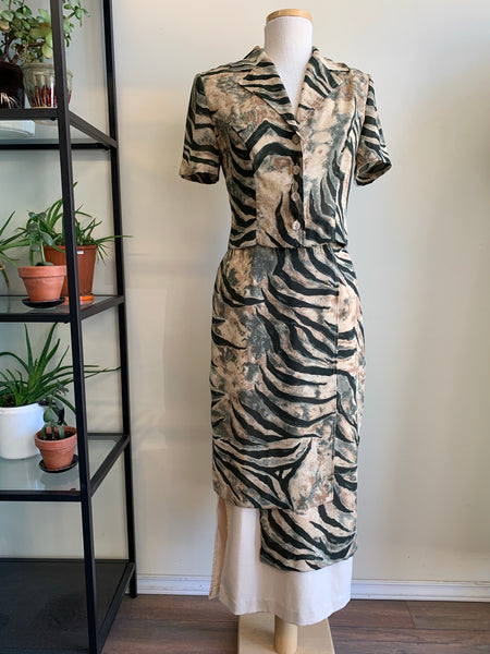 1980s animal print office set