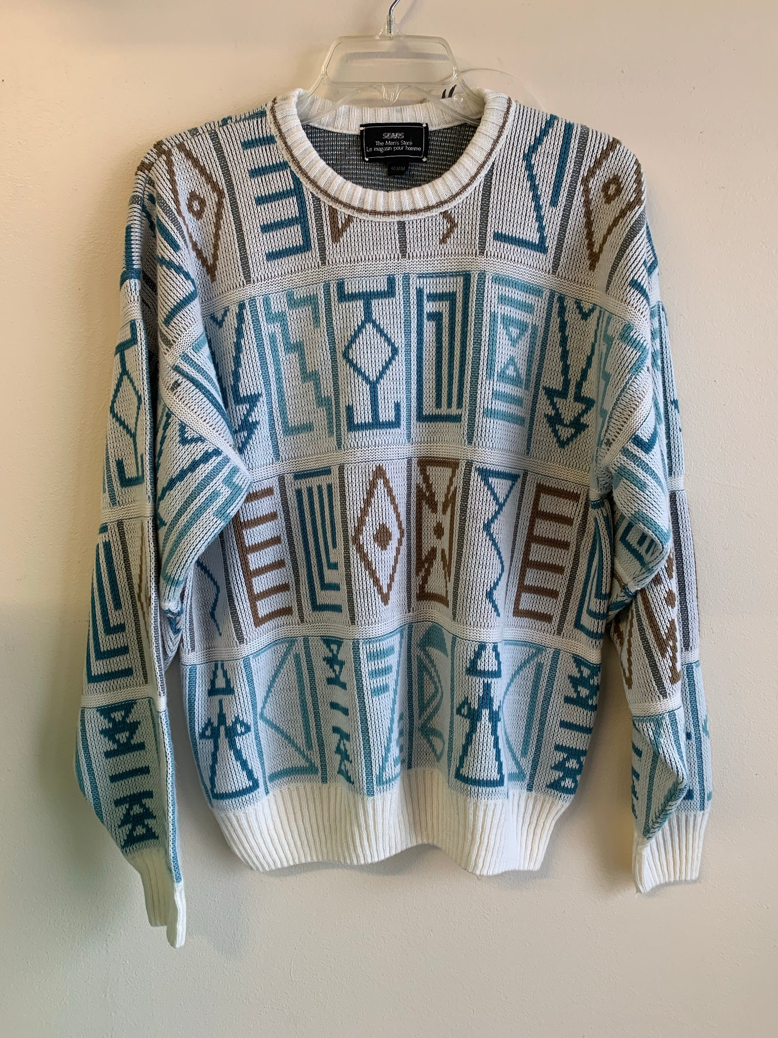 Groovy Geometric Slouchy Sweater