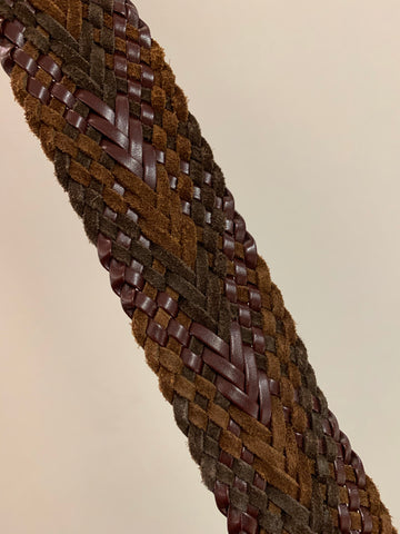 Multi-hued Braided Leather Belt