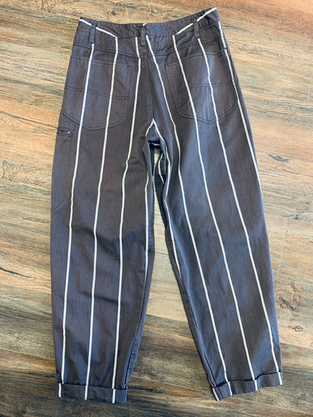 Marithe Francois Girbaud 1980's Striped Pants