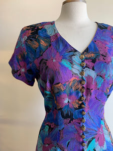 1990s Rayon Faux Button-Front