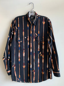 Roper Arrow Print Button-Up Western Shirt