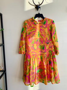 1960's Psychedelic Smocked Dress