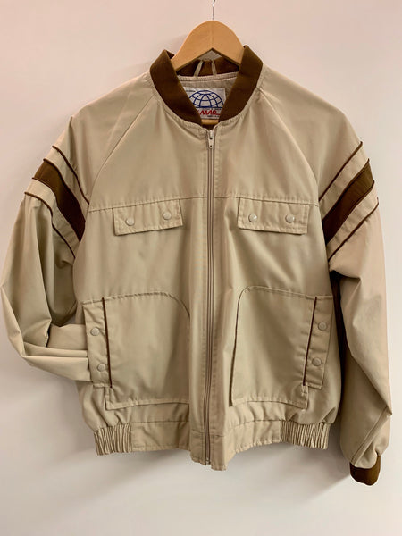 1980s zip up spring jacket