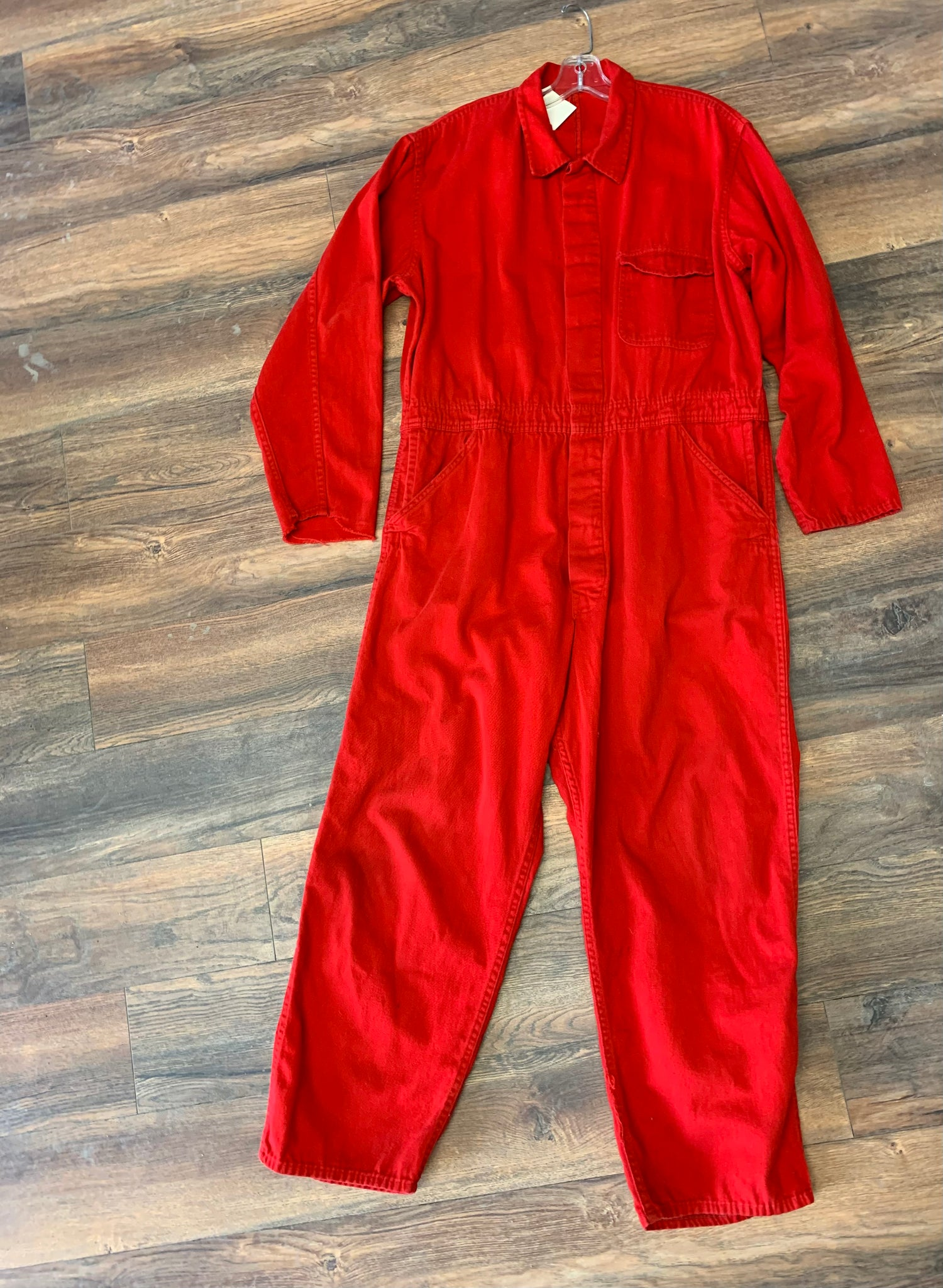 Vintage Red Workwear Jumpsuit
