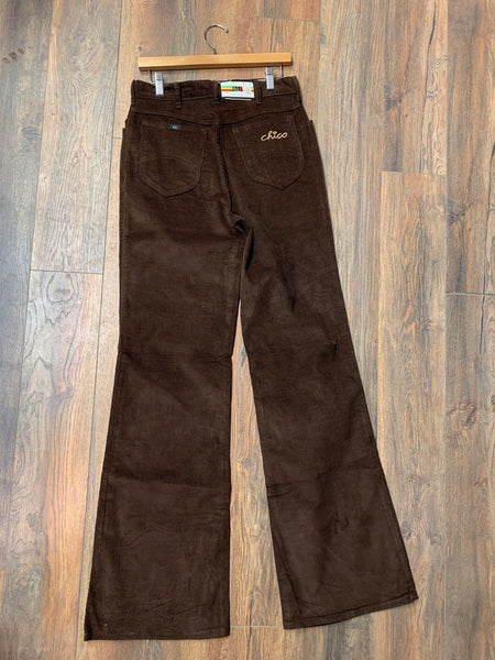 """h.i.s. chico"" Brown Corduroy Bell Bottoms"