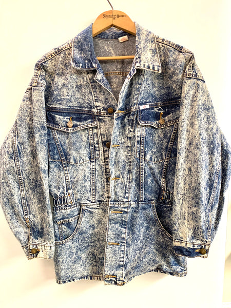 Insane 80's Acid Wash Denim Jacket
