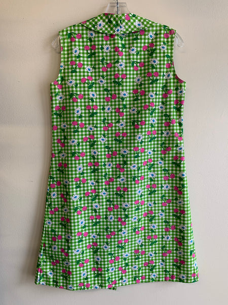 1960s house dress, green edition