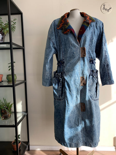 Incredible 1980's Acid-Wash Trench Coat