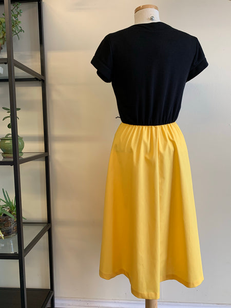 Black & Yellow 80's dress