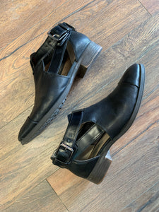 Clarks Cut-Out Buckle Shoes