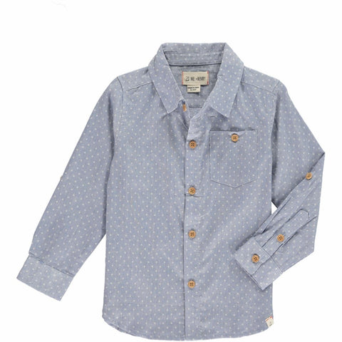 Blue Spot Button Down Shirt | Me & Henry
