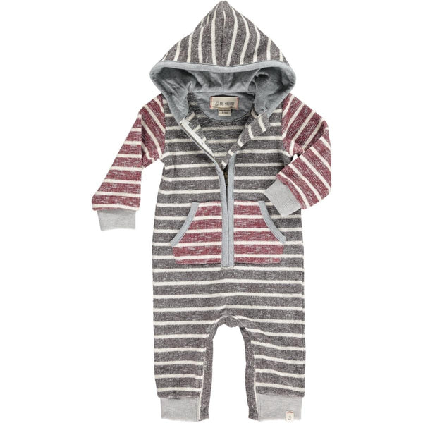 Stripe Hooded Romper | Me & Henry