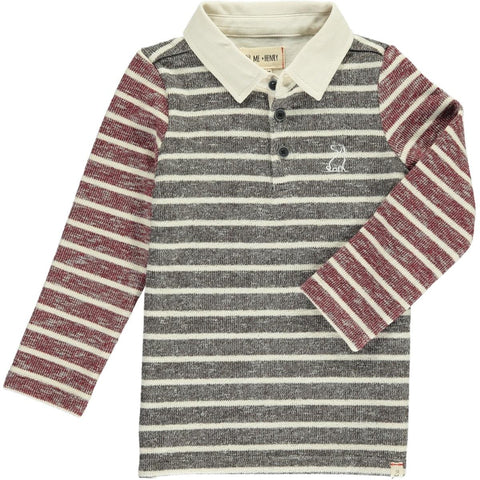 Stripe Rugby Long Sleeve Tee | Me & Henry