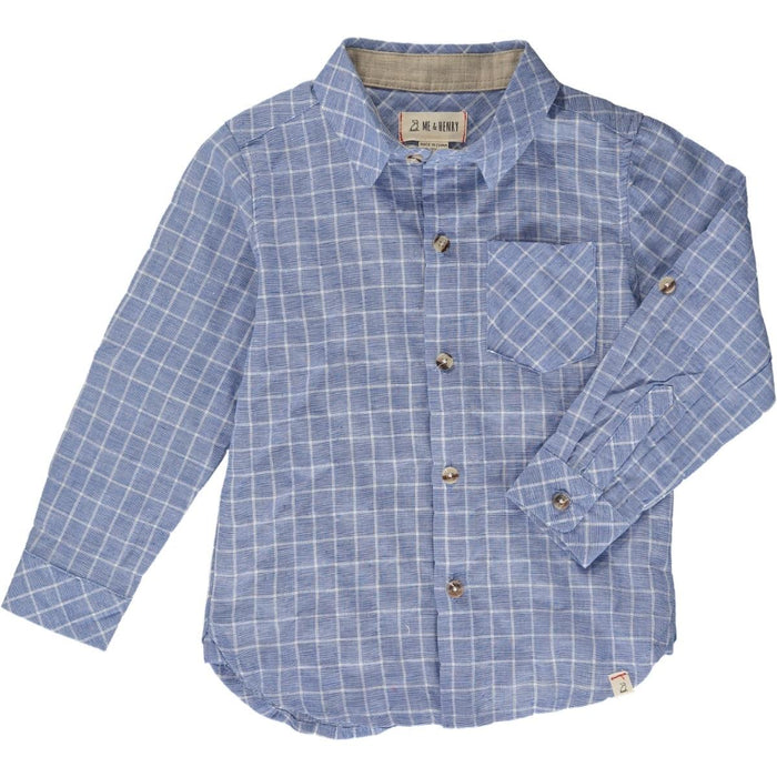 Blue Plaid Button Down Shirt | Me & Henry