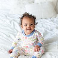 Watercolor Blooms Bamboo Two-Piece Pajama Set | Little Sleepies