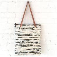 Worn Black | Hilary Heavy Canvas Mod Tote | Erin Flett