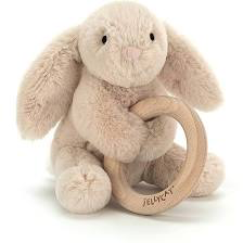 Shooshu Bunny Wooden Ring Toy | Jellycat
