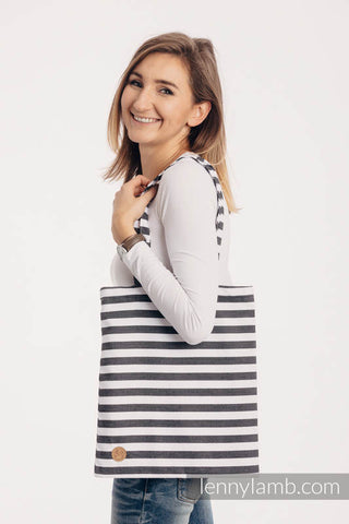 Stripe Shopping Bag | Lenny Lamb