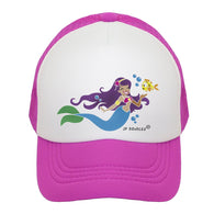 Hot Pink Mermaid Trucker Hat | JP DOoDLES