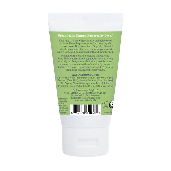 Organic Baby Face Nose and Cheek Balm - 2oz | Earth Mama Organics