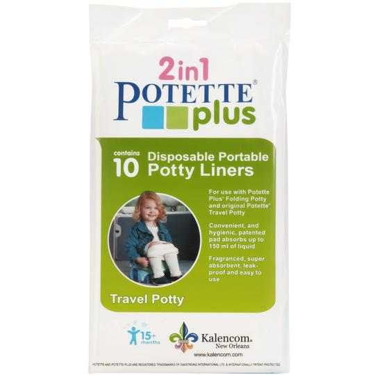 2-in-1 Potette Plus Potty Liners - 10 Pack | Potette