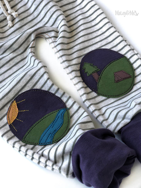 Aubergine Adventures Play Pants: 12-18 Months | Matey & Me
