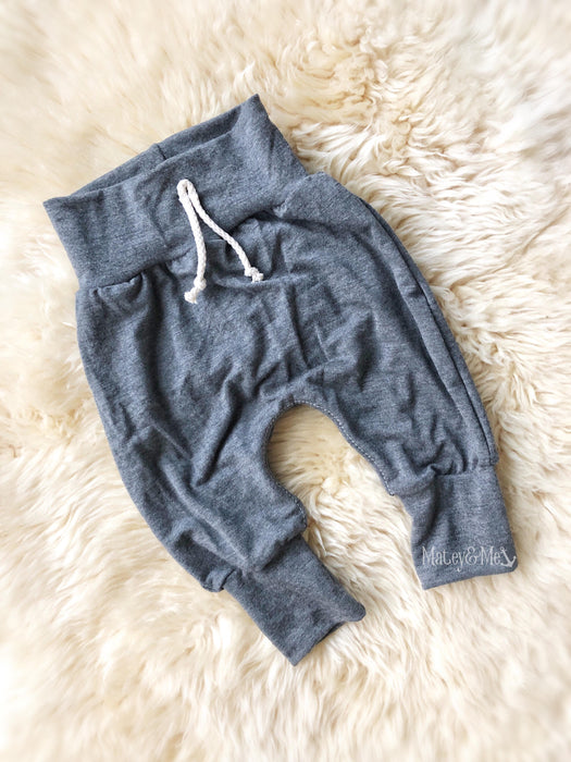 Sterling Gray Bamboo Harem Pants | Matey & Me