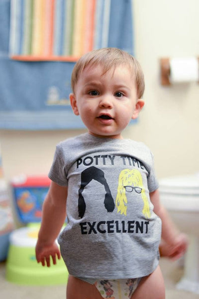 'Potty Time Excellent' Wayne's World Kid's Tee | Spill The Beans