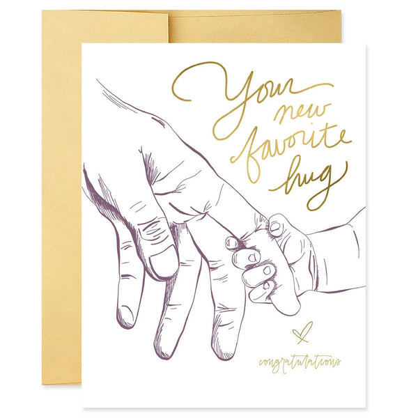 New Favorite Hug Card | Good Juju Ink