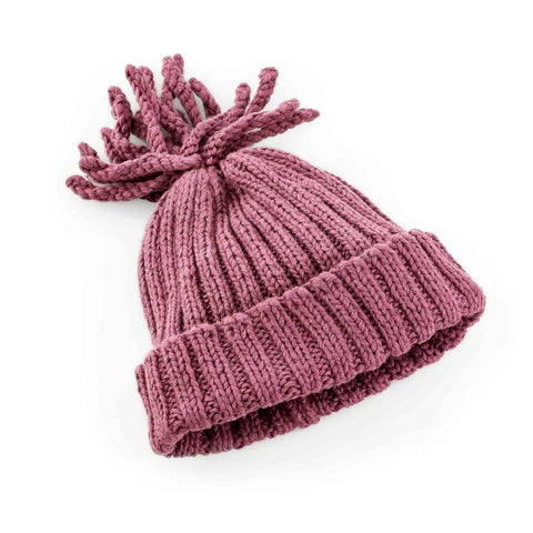 Soft Purple Ribbed Hat | Pebble