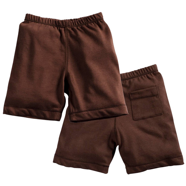 Chocolate Basic Shorts | Babysoy Inc