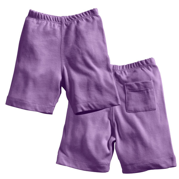 Eggplant Basic Shorts | Babysoy Inc