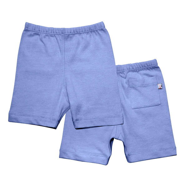 Lake Blue Basic Shorts | Babysoy Inc