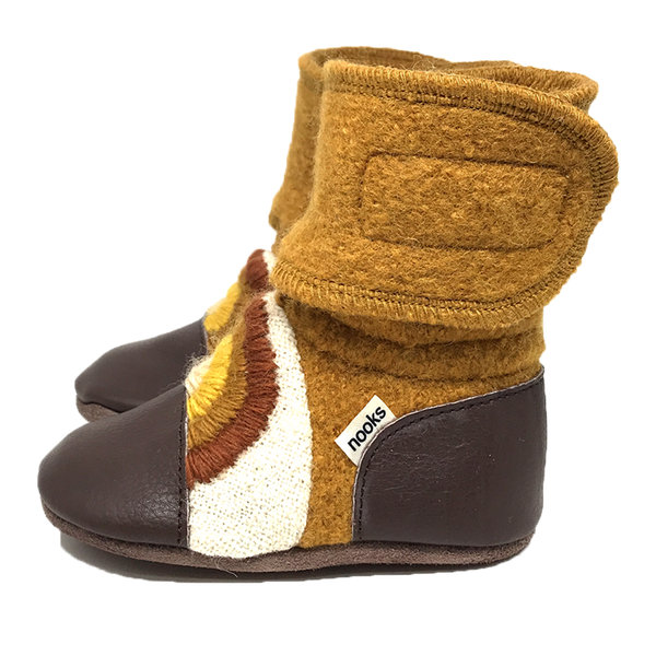 Chase the Sun Wool Booties | Nooks Design