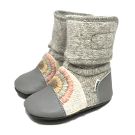 Rainbow Moon Felted Wool Booties | Nooks Design