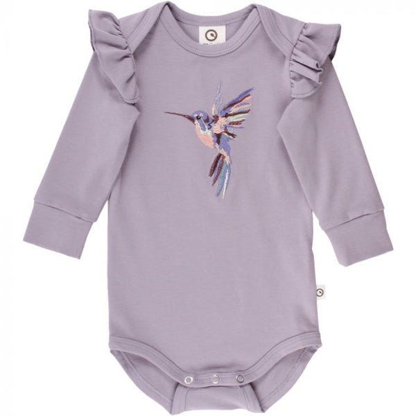 Ash Hummingbird Frill Long Sleeve Bodysuit | Musli