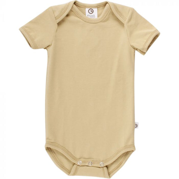 Golden Cozy Me Short Sleeve Bodysuit | Musli