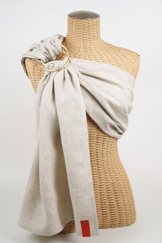 Basics Linen Ring Sling | Sakura Bloom