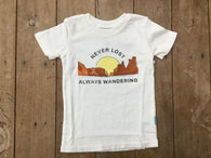 Never Lost Always Wandering Vintage Tee | Feather 4 Arrow - Nature Baby Outfitter