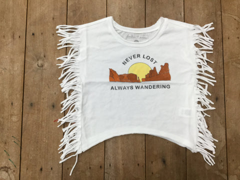 Never Lost Always Wondering Stevie Top | Feather 4 Arrow - Nature Baby Outfitter