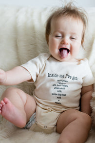 Simply Chickie Clothing - Inside Me Baby Rompers